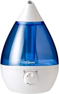 Crane RB-5301 EE-5301 Drop Ultrasonic Cool Mist 1Gal Humidifier Blue Refurbished