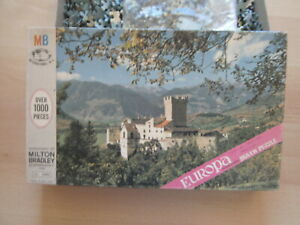 """Sehr altes Puzzle - MB - """"Schloss in Italien"""" - 1000 Teile"""
