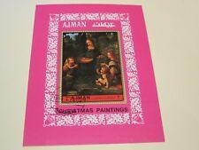 Ajman State, Briefmarkenblocks,o, Motiv Weihnachten, Foto