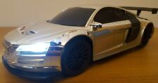 AUDI R8 RECHARGEABLE Remote Control Car 1:16 SILVER CHROME - 25CM FAST SPEED