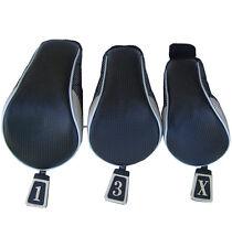 calibre Set of 3 Long Neck Tadpole Wood Club Head Covers W/450 CC Driver Cover
