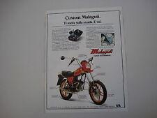 advertising Pubblicità 1982 MOTO MALAGUTI CUSTOM 50