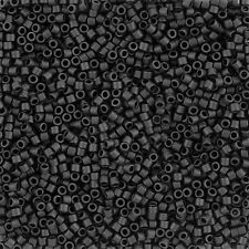 Miyuki Delica Seed Beads 2.2mm Size 10/0 Matte Black Sold In 6.8g Tube (J109/8)