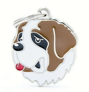 St Bernard Dog ID Tag (53) - Engraved FREE - Personalised - Charm - Keyring