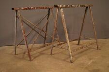 Paire de tréteau Industriel Acier 1950 Design Loft Vintage Shabby Atelier Usine