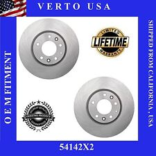 Front Set Of 2 Brake Rotors For Ford Fusion , Limited Life Time Warranty