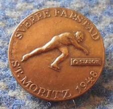 OLYMPIC LILLEHAMMER 1994 - STATOIL SVERRE FARSTAD SKATING ST. MORITZ 1948 PIN