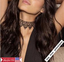 Vintage Gothic Women's Black Velvet Lace Choker Collar Punk Tattoo Necklace