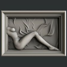 3d STL models for CNC, Artcam, Aspire, relief naked woman