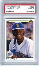KEN GRIFFEY JR.~1990 UPPER DECK PSA-9 MINT GRADED 2ND YEAR MLB BASEBALL CARD#156
