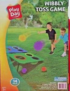 Play Day Wibbly Toss Game - Multicolor Family Friendly Corn Hole New Sealed Box