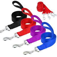 10pcs/lot 4ft Dog Leash Clip Nylon Rope Pet Walking Leads Black Red Blue Purple