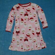 Girls size 2 / 3 Carters Long Sleeve Santa Clause Fleece Nightgown