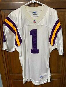 Starter Minnesota Vikings NFL Pro Line Warren Moon # 1 Jersey Men 46 XL White