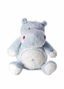 Peluche petit hippopotame bleu clair pour nouveau-né petit garçon