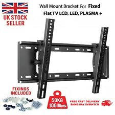 More details for tv wall bracket mount fixed slim for tv 26 42 50 55 up to 63 inch lcd led plasma