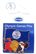 Mascots Holding Flag Holograph Sydney Olympic Games 2000 Pin Badge Collect #113