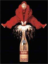 SPA SPARKLING TABLE WATER BELGIUM CLOWN VINTAGE RETRO ADVERTISING POSTER 1503PY