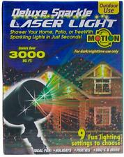New DELUXE SPARKLE LASER LIGHT Waterproof Outdoor Holiday Party Decoration NIB !