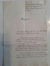 Lettre 1828/JJ BOSQ propriétaire AURIOL au Garde des Sceaux/exilé Révolution