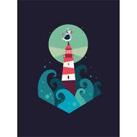 Nautical Lighthouse Wall Art Print