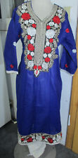new  style beautiful selver embroidery silk    Cotton  salwar kameez Size L42