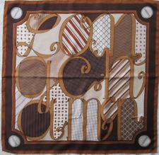 -Superbe Foulard LONGCHAMP soie  TBEG  vintage Scarf  87 x 88 cm