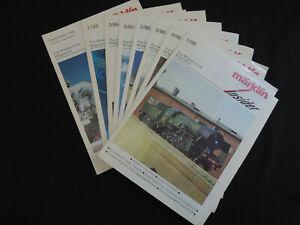 THE MARKLIN CLUB MAGAZINE 8 ENGLISH ISSUES MODEL TRAINS RAILROAD  1994/95/96