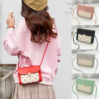 Women PU Leather Small Handbag Satchel Messenger Cross Body Shoulder Bag Purse