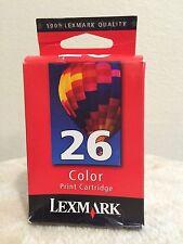 LEXMARK 26 Color Ink Cartridge - Genuine - New - Sealed