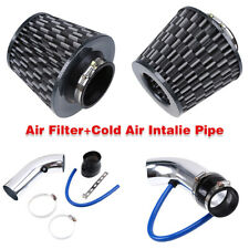 """3""""Car Cold Air Intake Filter Alumimum Universal Induction Kit Pipe Hose System"""