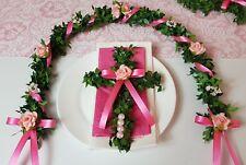 Ehrenplatz rosa pink mit Kreuz Ranke Kommunion Reigen