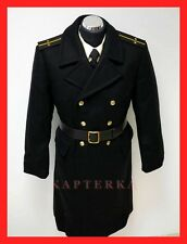 ☆ Original Russische Kriegsmarine Offizier Uniform Wollmantel Mantel Schinel ☆
