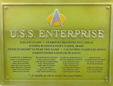 STAR TREK EAGLEMOSS COLLECTION USS ENTERPRISE NCC-1701D DEDICATION PLAQUE