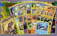 Lot 60 Cartes Pokemon Différentes Françaises 💘 Cadeaux-Boite+Jeton+Rares+100PV