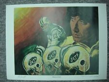 JOE NAMATH AUTOGRAPHED ANGELO MARINO LITHOGRAPH ALSO SIGNED BY ARTIST 301/500