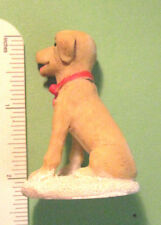 "CUTE PUPPY DOG  sitting  on snow  porcelain type ""mini"" statue figurine"