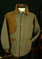 Mens USA Made Woolrich Vintage Tweed Shooting Hunting Style Jacket Coat Size 44