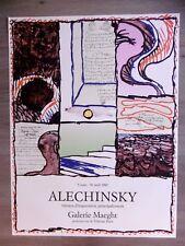 ALECHINSKY Pierre Affiche originale litho 80 Travaux d'impression COBRA Belgique