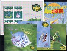 "Palau 1998 ""Bug's Life""/Disney/Films/Cinema/Animation/Insects 5 x m/s (b798d)"