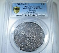 1742 Mo MF PCGS Genuine Spanish Silver 8 Reales Eight Real Pirate Treasure Coin
