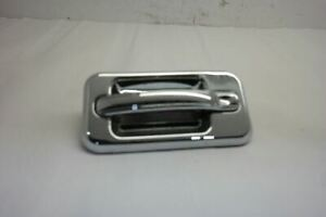 -3 =09 HUMMER H2 REAR DRIVER LEFT EXTERIOR DOOR HANDLE OEM CHROME