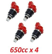 4 x 650cc JECS Side Feed Fuel Injectors for NISSAN NISMO SR20 S13 S14 S15