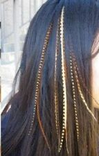 4-7 inch Natural Dark Browns, Beige Mix 100% Real Hair 5Feather Extensions bond