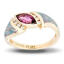 Kabana Closeout Inlaid Opal and Rhodolite Garnet Ring  sz 7.5  reg $1,500.00