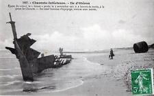 """CPA 17 ILE D´OLERON EPAVE DU VAPEUR LE """"GOUET"""" PERDU LE 5 NOVEMBRE 1907 (DOIT ET"""