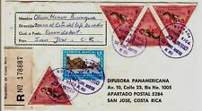 1978 Costa Rica Registered Cover with Overprinted Triangle Stamps