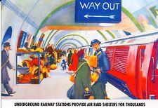 WW2 - CP - Le métro londonien transformé en abri lors des bombardements