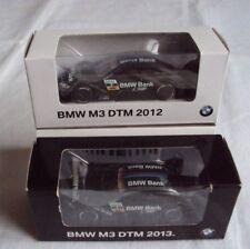 BMW M3 M4 DTM 2012 Nr.7 und DTM 2013 No.1 Bruno Spengler schwarz BMW Bank 1:64