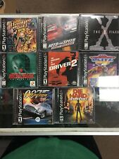 PS1 Lot Of 8 Games X Files Need For Speed Metal Gear